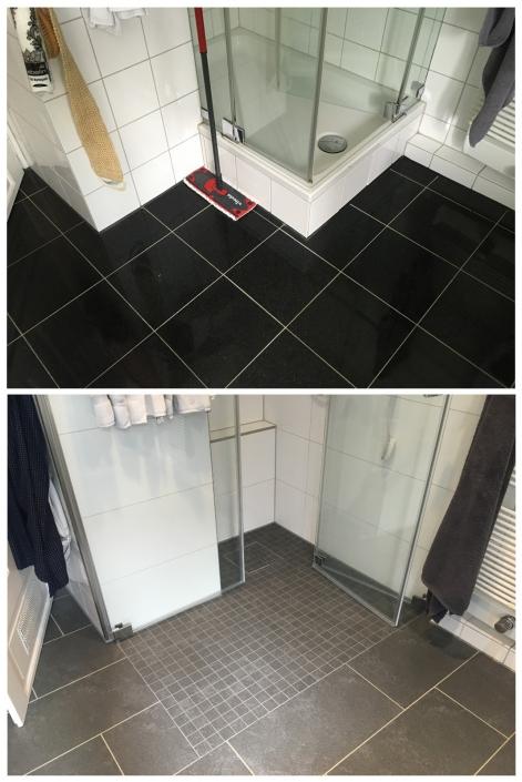 Geflieste Dusche anstatt Badewanne