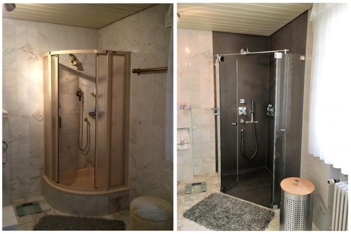 Bodenebene Dusche anstatt Duschwanne