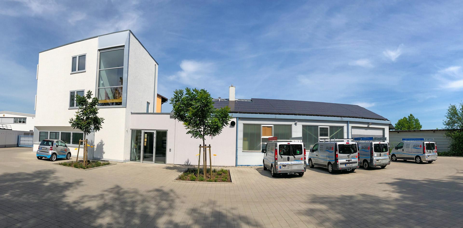 Qbus Firmengebäude der Jäger Haustechnik Karlsruhe